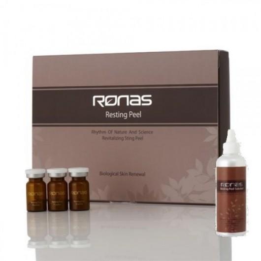 Ronas Resting Peel Powder海藻矽針套裝 1.3G X 10 +  幹細胞精華 5ml x 10